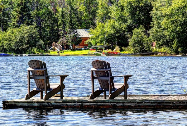 Chairs Cabin Water Vacation Nature Cottage Lake
